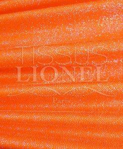 lycra pailleté diamontine orange