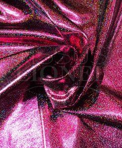 lycra pailleté multipoint série 2 fushia sur fond noir pailleté argent hologramme