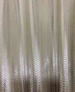 Lycra sequined flesh background glittery silver