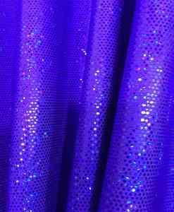 Lycra sequined glittery blue purple background