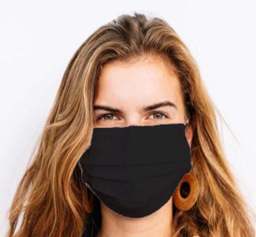 Masque noir coton afnor S76-001