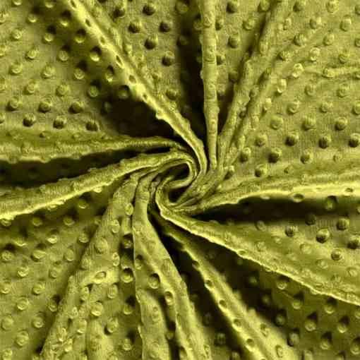 Tissu minky vert kaki