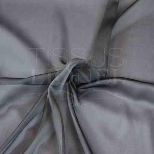 mousseline changeante deux files gris foncé