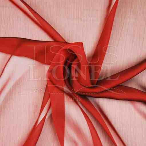 mousseline changeante deux files rouge et noir