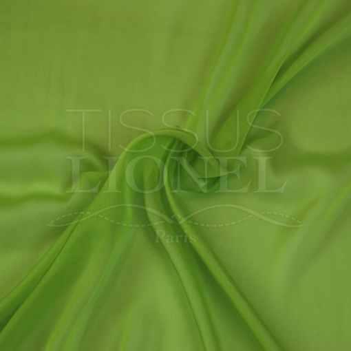 mousseline changeante deux files vert anis