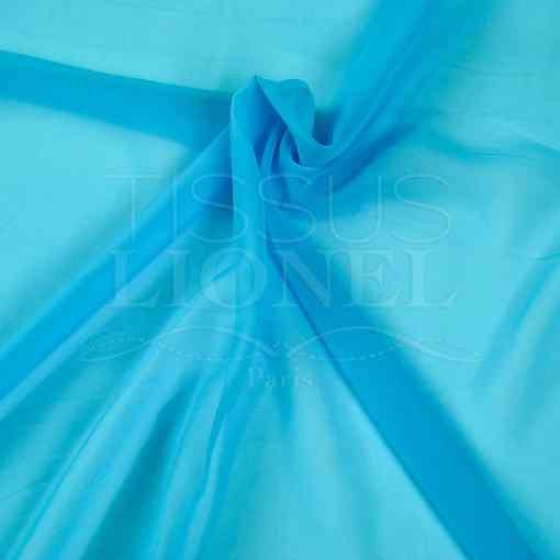 mousseline uni turquoise clair