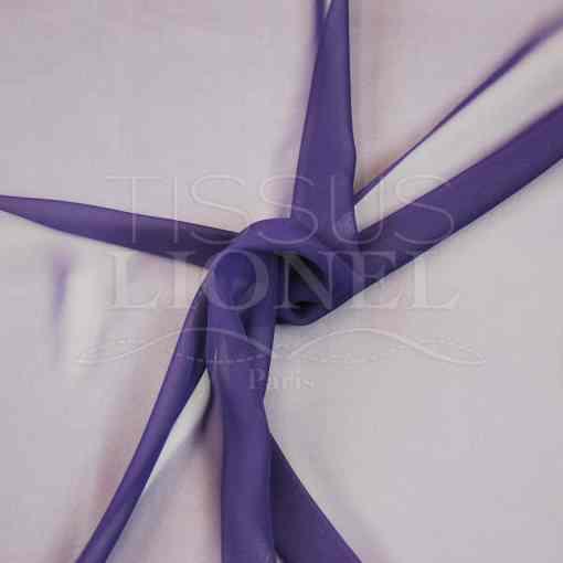 mousseline uni violet