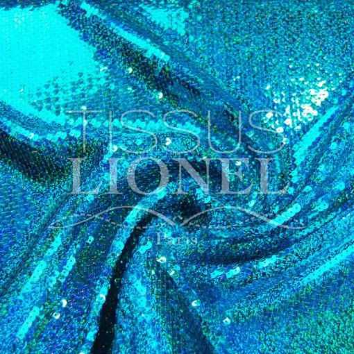 pailleté hologramme américain turquoise hologramme