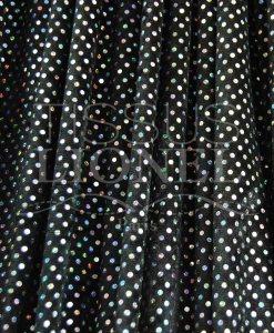 panne de velour pailleté hologramme fond noir pailleté argent hologramme