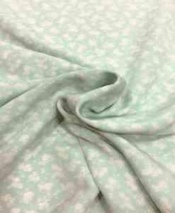 Tissu polyester imprimé - fleurs blanche