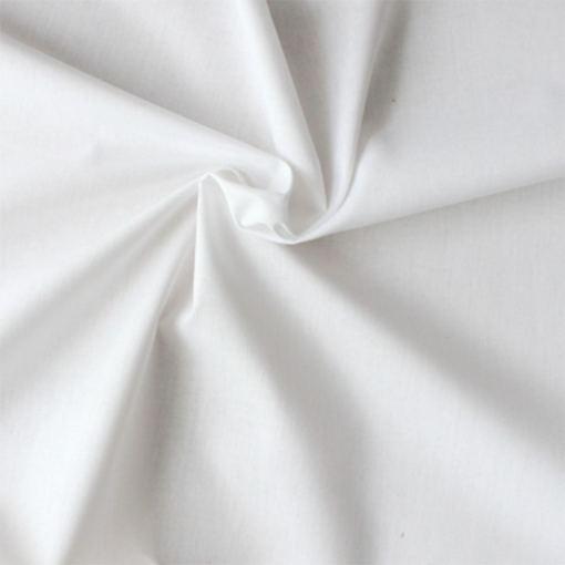 Popeline de coton bio blanc