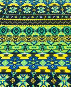Popeline de coton style africain kente