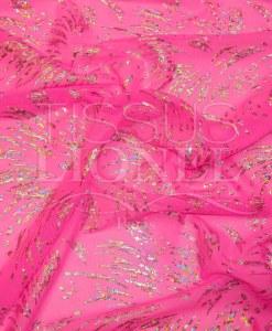 Fishnet lycra neon pink glittery silver hologram psycho