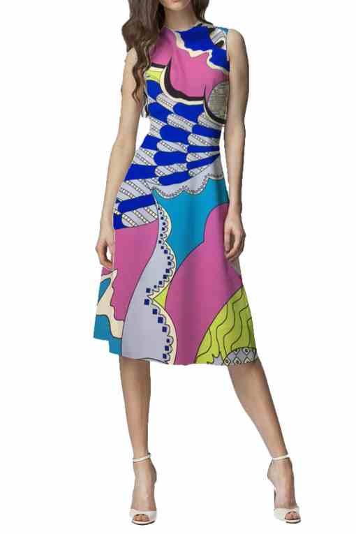 Satin de soie haute couture baroque multicolors