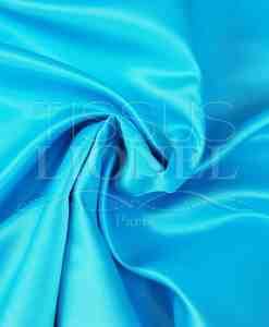 satin duchesse turquoise clair