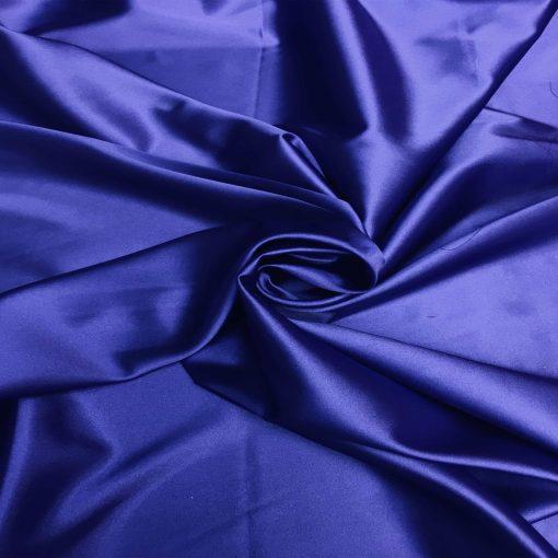 Satin lycra bleu royal