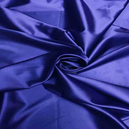 Satin lycra bleu royal