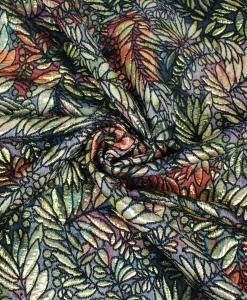Tissu brocard fleuri