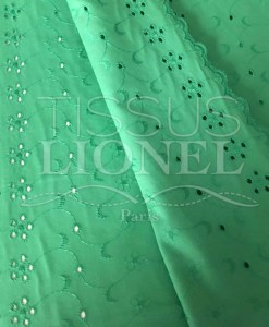 groene eyelet weefsel
