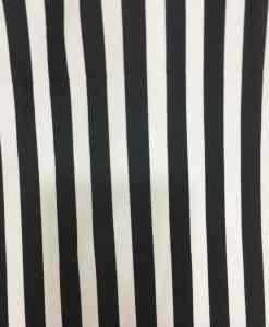 Tissu Burlington blanc rayure noir