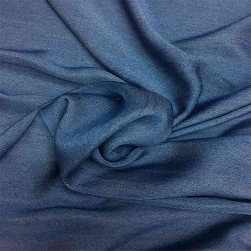 Tissu chambray karabela viscose clair