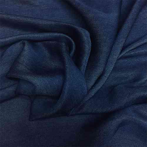 Tissu chambray karabela viscose foncé