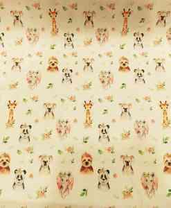 Tissu coton animaux de la jungle