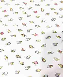 Tissu coton cornet de glace