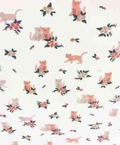Tissu coton couple de chat