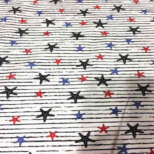 Tissu coton étoile de mer