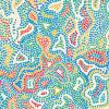 Tissu coton imprimé motif Aborigéne 2