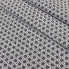Tissu coton imprimé motif cube géométrique fond blanc noir