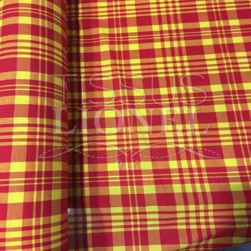 Tissu coton madras 074