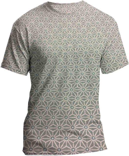 Tissu coton motif imprimé cube géométriques gris