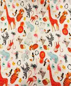 Tissu coton zoo