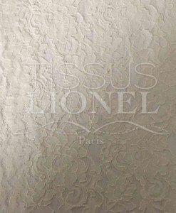 Tissu dentelle couture festonnée écru