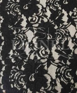 festoneado de encaje negro de tela de costura