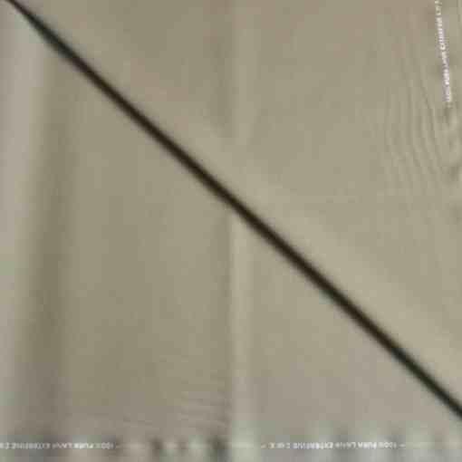Tissu lainage beige kaki pure laine