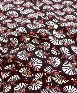 Tissu microfibre motif eventaille sensu