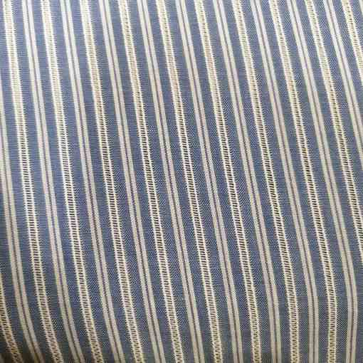 Tissu polycoton rayure blanche transparente