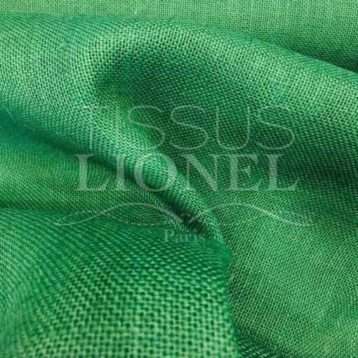 Tissu toile de jute vert