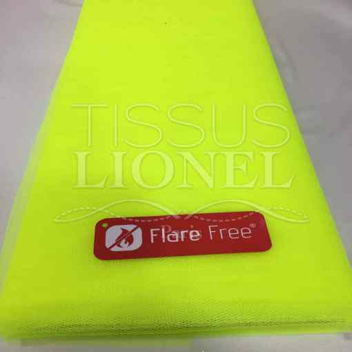 Tissu tulle souple jaune fluo