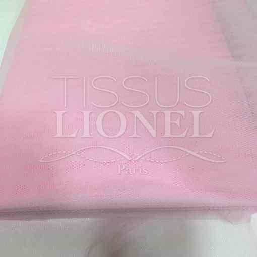 Tissu tulle souple rose briar
