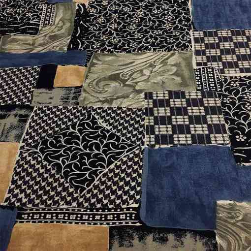 Tissu viscose patchwork