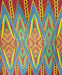 Stoff African Wax Cotton Printed