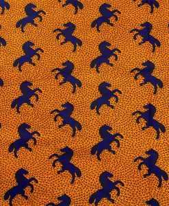 Tissu wax chevaux