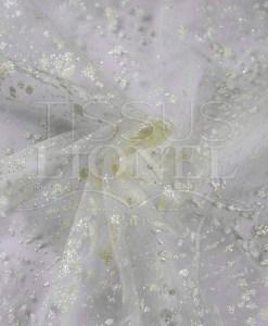 тюль свадебное-белый фон блестящие экрю