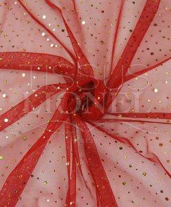 tulle pailleté hologramme fond rouge pailleté or hologramme