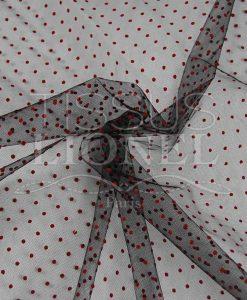 plumtié тюль черный фон красные точки