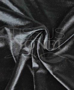 velour lisse changeant noir